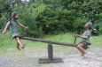 Boy & Girl on Seesaw bronze