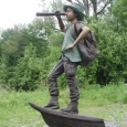 Explorer Boy bronze statue