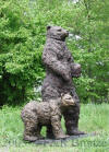 Standing Bear with Cub statue