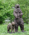 Standing Bear with Cub sculpture