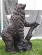 Bear Exploring bronze sculpture