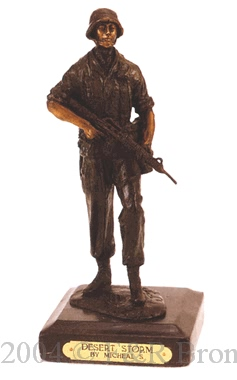 Desert Storm bronze reproduction by Micheal S.