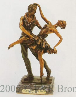 Dancers bronze statue by Louis Justine Icart