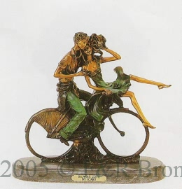 Bicycle Love bronze by Louis Justin Icart