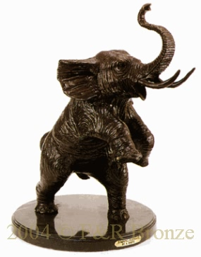 Jumping Elephant bronze by Antoine Barye