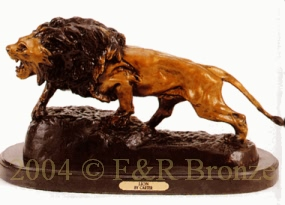 Lion bronze sculpture by Carter
