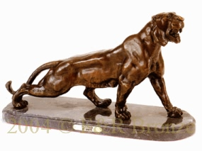 Panther bronze sculpture by Antoine Barye