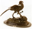 Golden Pheasant bronze statue by Moigniez