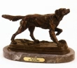 Long Hair Setter bronze reproduction by Moigniez