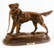 Setter with Bird bronze by Jules Moigniez