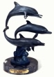 Three Playing Dolphins bronze statue by Nardini