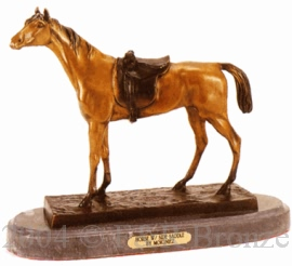 Horse with Side Saddle bronze by Jules Moigniez