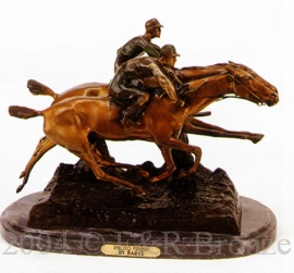 Photo Finish bronze statue by Antoine Barye