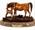 Female Horse with Colt bronze