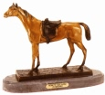 Horse with Side Saddle bronze statue