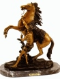 Marly Horse with Boy bronze statue