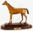 Racehorse bronze sculpture