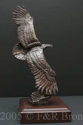 Majestic Monarch bronze by Wally Shoop