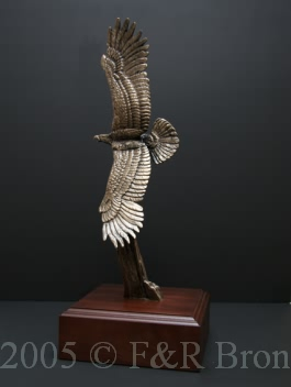 Over The Top bronze by Wally Shoop