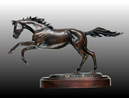 Running Free bronze sculpture by James Arthur